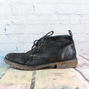 BED STU Suede Lace Up Ankle Boots Size 8.5
